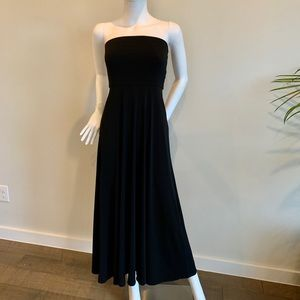 Polo by Ralph Lauren Strapless Black Dress in XS